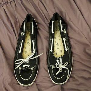 Vans slip ons boat shoes